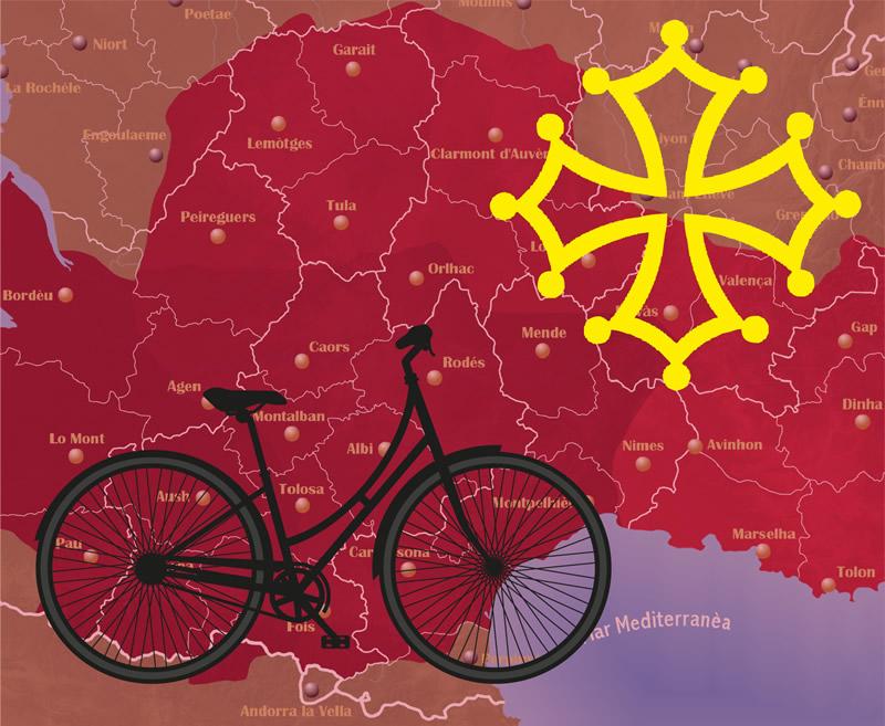Didier Tousis - Lucie Albert Bicicletada en Occitània